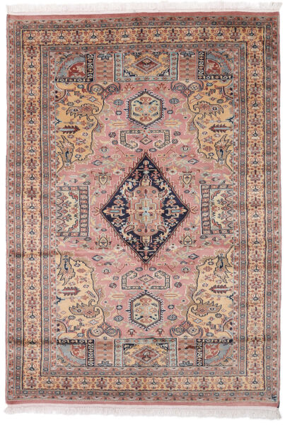 Pakistan Bokhara 2Ply Matto 138X196 Itämainen Käsinsolmittu Tummanruskea/Tummanpunainen (Villa, Pakistan)