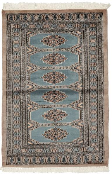 Pakistan Bokhara 3Ply Matto 92X140 Itämainen Käsinsolmittu Tummanruskea/Tummanharmaa (Villa, Pakistan)