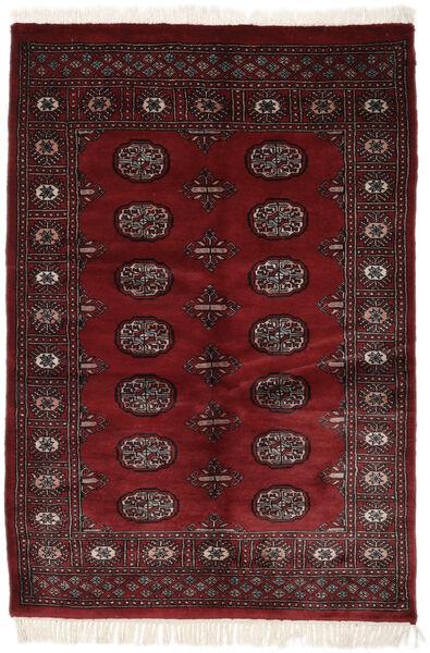 Pakistan Bokhara 3Ply Matto 121X187 Itämainen Käsinsolmittu Musta (Villa, Pakistan)