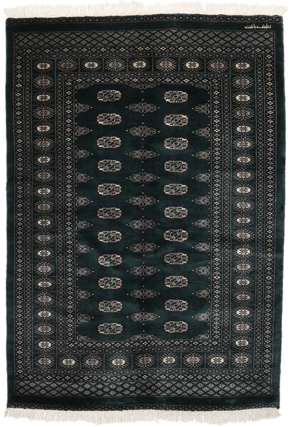 Pakistan Bokhara 3Ply Matto 130X186 Itämainen Käsinsolmittu Musta (Villa, Pakistan)