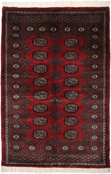 Pakistan Bokhara 3Ply Matto 128X192 Itämainen Käsinsolmittu Musta (Villa, Pakistan)