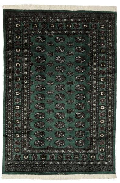 Pakistan Bokhara 3Ply Matto 190X275 Itämainen Käsinsolmittu Musta (Villa, Pakistan)
