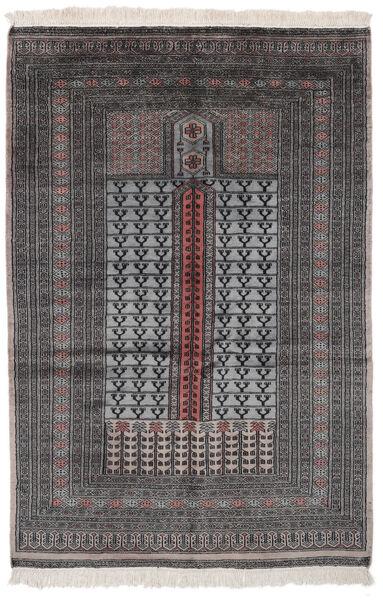 Pakistan Bokhara 2Ply Matto 128X195 Itämainen Käsinsolmittu Musta (Villa, Pakistan)