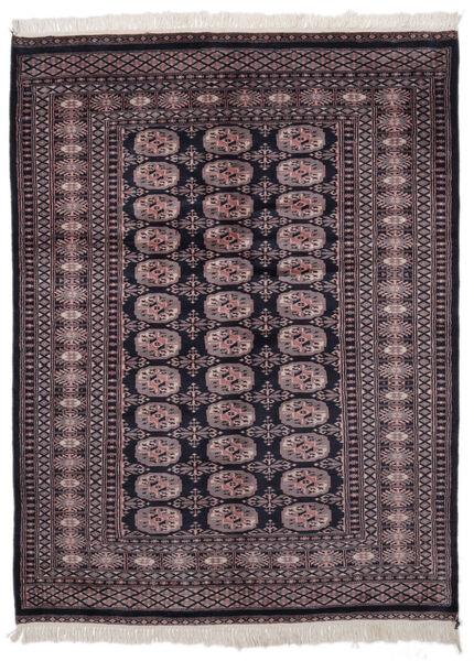 Pakistan Bokhara 2Ply Matto 139X186 Itämainen Käsinsolmittu Musta/Tummanpunainen (Villa, Pakistan)