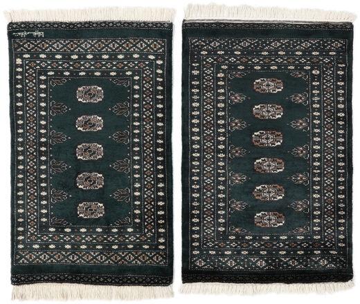 Pakistan Bokhara 3Ply Matto 61X100 Itämainen Käsinsolmittu Musta/Beige (Villa, Pakistan)