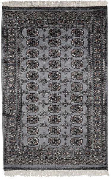 Pakistan Bokhara 2Ply Matto 124X190 Itämainen Käsinsolmittu Musta/Tummanharmaa (Villa, Pakistan)