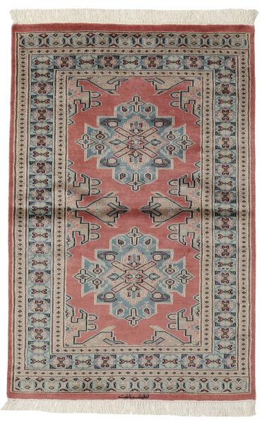 Pakistan Bokhara 2Ply Matto 95X147 Itämainen Käsinsolmittu Tummanruskea/Tummanpunainen (Villa, Pakistan)