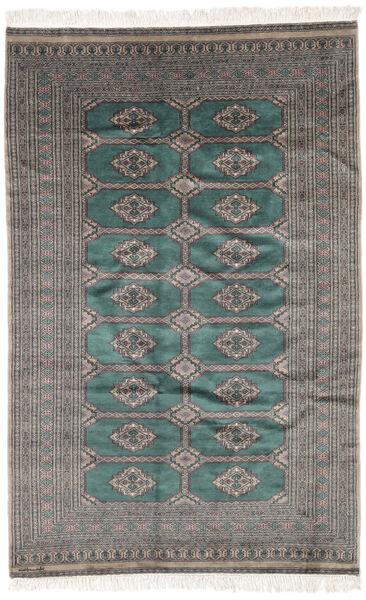 Pakistan Bokhara 3Ply Matto 158X245 Itämainen Käsinsolmittu Musta/Tummanharmaa (Villa, Pakistan)