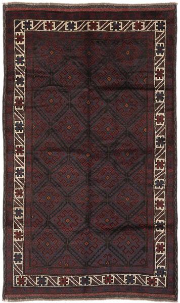 Beluch Matto 150X250 Itämainen Käsinsolmittu Musta (Villa, Afganistan)