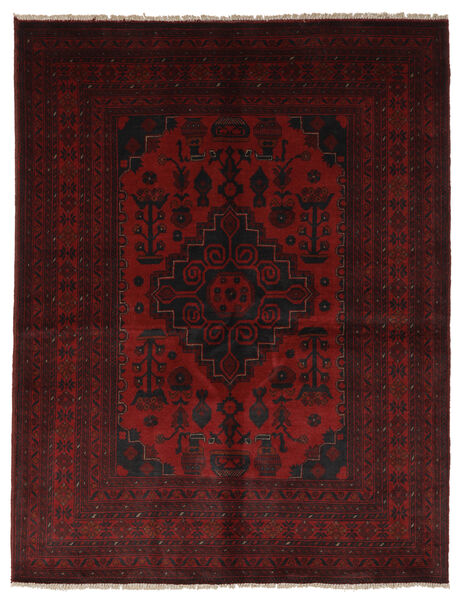 Afghan Khal Mohammadi Matto 150X200 Itämainen Käsinsolmittu Musta (Villa, Afganistan)
