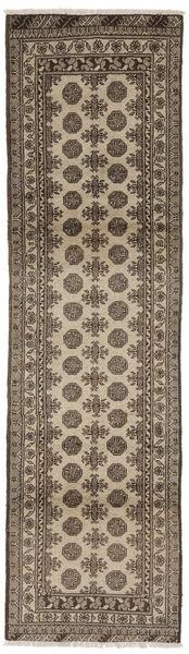 Afghan Matto 79X285 Itämainen Käsinsolmittu Käytävämatto Tummanruskea/Musta (Villa, Afganistan)