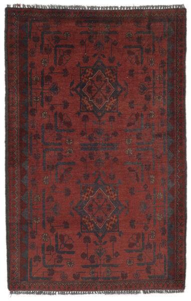 Afghan Khal Mohammadi Matto 77X125 Itämainen Käsinsolmittu Musta/Tummanruskea (Villa, Afganistan)