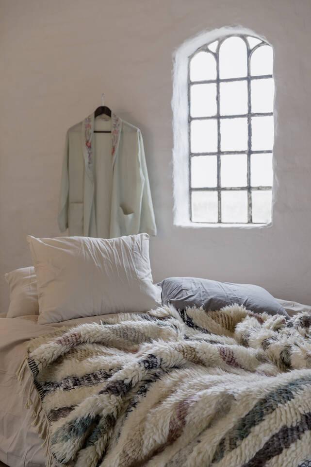 Valkoinen  barchi / moroccan berber - indo - matto makuuhuone.