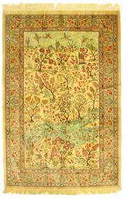 Ghom Silkki Figural/Pictorial Matto 131X198 Itämainen Käsinsolmittu (Silkki, Persia/Iran)