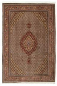 Tabriz 50 Raj Silkillä Matto 200X301 Itämainen Käsinsolmittu Ruskea/Tummanruskea (Villa/Silkki, Persia/Iran)