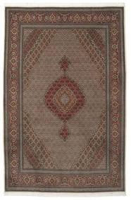 Tabriz 50 Raj Silkillä Matto 205X315 Itämainen Käsinsolmittu Tummanruskea/Ruskea (Villa/Silkki, Persia/Iran)