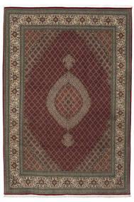 Tabriz 50 Raj Silkillä Matto 210X310 Itämainen Käsinsolmittu Tummanpunainen/Vaaleanruskea (Villa/Silkki, Persia/Iran)