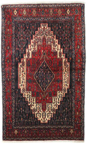 Senneh Matto 128X210 Itämainen Käsinsolmittu Tummanruskea/Tummanpunainen (Villa, Persia/Iran)