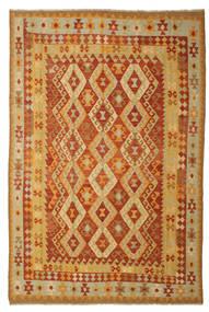 Kelim Afghan Old Style Matto 197X293 Itämainen Käsinkudottu (Villa, Afganistan)