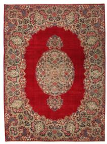 Kerman Patina Matto 277X374 Itämainen Käsinsolmittu Tummanpunainen/Vaaleanruskea Isot (Villa, Persia/Iran)