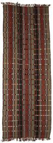 Kelim Konya Cicim Matto 161X433 Itämainen Käsinkudottu Käytävämatto Tummanruskea/Tummanpunainen (Villa, Turkki)