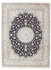 Nain 6La Allekirjoitettu: Habibian Matto 205X271 Itämainen Käsinsolmittu (Villa/Silkki, Persia/Iran)