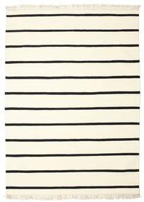 Dorri Stripe - Valkoinen/Musta Matto 140X200 Moderni Käsinkudottu Beige/Valkoinen/Creme (Villa, Intia)