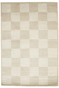 Pacific Line Square - Valkoinen/Beige Matto 170X240 Moderni Käsinsolmittu Tummanbeige/Beige ( Intia)