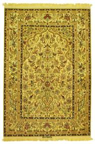 Isfahan Silkki Loimi Figural/Pictorial Allekirjoitettu: Nasr Matto 142X210 Itämainen Käsinsolmittu (Villa/Silkki, Persia/Iran)