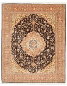 Tabriz 50 Raj Silkillä Matto 247X305 Itämainen Käsinsolmittu Vaaleanruskea/Ruskea (Villa/Silkki, Persia/Iran)
