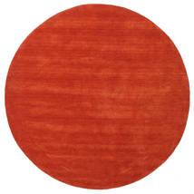 Handloom - Ruoste/Punainen Matto Ø 200 Moderni Pyöreä Ruoste (Villa, Intia)