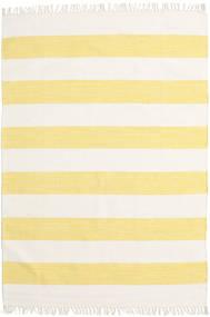 Cotton Stripe - Keltainen Matto 140X200 Moderni Käsinkudottu Beige/Keltainen (Puuvilla, Intia)