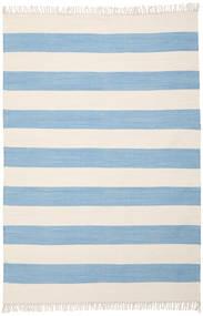 Cotton Stripe - Vaalea Sininen Matto 160X230 Moderni Käsinkudottu Vaaleansininen/Beige (Puuvilla, Intia)