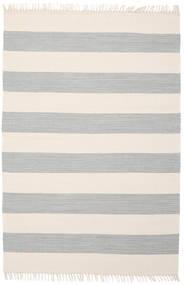 Cotton Stripe - Steel Grey Matto 140X200 Moderni Käsinkudottu Beige/Vaaleanharmaa (Puuvilla, Intia)