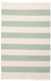 Cotton Stripe - Mint Matto 140X200 Moderni Käsinkudottu Beige/Pastellinvihreä (Puuvilla, Intia)