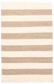 Cotton Stripe - Ruskea Matto 140X200 Moderni Käsinkudottu Beige (Puuvilla, Intia)