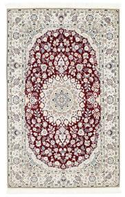 Nain 6La Matto 108X175 Itämainen Käsinsolmittu Vaaleanharmaa/Beige (Villa/Silkki, Persia/Iran)