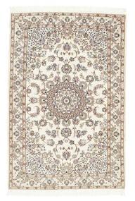 Nain 6La Matto 102X155 Itämainen Käsinsolmittu Beige/Vaaleanharmaa (Villa/Silkki, Persia/Iran)