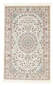 Nain 6La Matto 100X160 Itämainen Käsinsolmittu Beige/Vaaleanharmaa (Villa/Silkki, Persia/Iran)