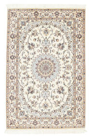 Nain 6La Matto 100X152 Itämainen Käsinsolmittu Beige/Vaaleanharmaa (Villa/Silkki, Persia/Iran)
