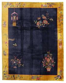 Kiina Antiikki: Art Deco 1920 Matto 280X355 Itämainen Käsinsolmittu Musta/Tummanharmaa Isot (Villa, Kiina)