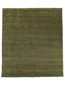 Handloom Fringes - Vihreä Matto 250X300 Moderni Oliivinvihreä Isot (Villa, Intia)