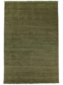 Handloom Fringes - Vihreä Matto 200X300 Moderni Oliivinvihreä/Tummanvihreä (Villa, Intia)