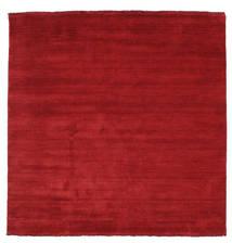 Handloom Fringes - Tummanpunainen Matto 200X200 Moderni Neliö Punainen (Villa, Intia)