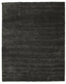Handloom Fringes - Musta/Harmaa Matto 200X250 Moderni Tummanharmaa/Musta (Villa, Intia)