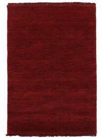 Handloom Fringes - Tummanpunainen Matto 160X230 Moderni Punainen (Villa, Intia)