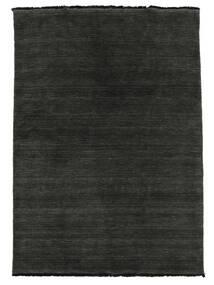 Handloom Fringes - Musta/Harmaa Matto 140X200 Moderni Musta (Villa, Intia)