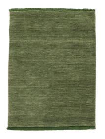 Handloom Fringes - Vihreä Matto 120X180 Moderni Oliivinvihreä (Villa, Intia)
