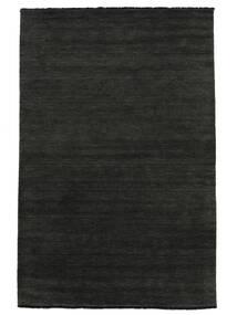 Handloom Fringes - Musta/Harmaa Matto 300X400 Moderni Tummanharmaa Isot (Villa, Intia)