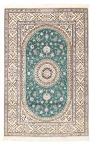 Nain 6La Habibian Matto 120X185 Itämainen Käsinsolmittu Vaaleanharmaa/Valkoinen/Creme (Villa/Silkki, Persia/Iran)